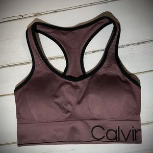 Calvin Klein Sports Bra Removable Pads Dusty PinkL